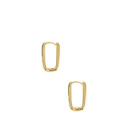 EARRINGS-GOLD DIPPED LINK 2MM