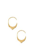 EARRINGS-GOLD DIPPED FLOWING DOWNWARD HOOP