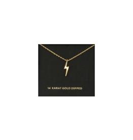 NECKLACE-GOLD DIPPED LIGHTNING BOLT