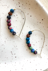 Faire/WorldFinds EARRINGS-SARI SILK CURVED HOOPS