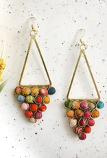 Faire/WorldFinds EARRINGS-KANTHA REFLECTIVE CHANDELIERS