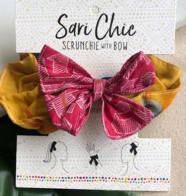 Faire/WorldFinds SCRUNCHIE-SARI CHIC W/BOW