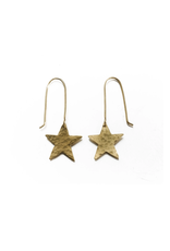 Faire/WorldFinds EARRINGS-STAR SOLID GOLD