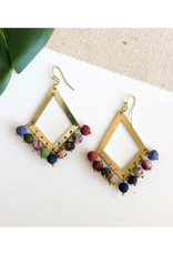 Faire/WorldFinds EARRINGS-KANTHA DANGLING KITE