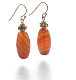 Faire/Museum Reproductions EARRINGS-BANDED AGATE