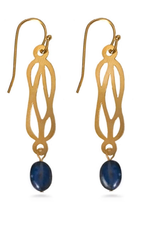 Faire/Museum Reproductions EARRINGS-HERCULEAN KNOT W/BLUE