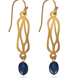 Faire/Museum Reproductions EARRINGS-HERCULEAN KNOT W/BLUE