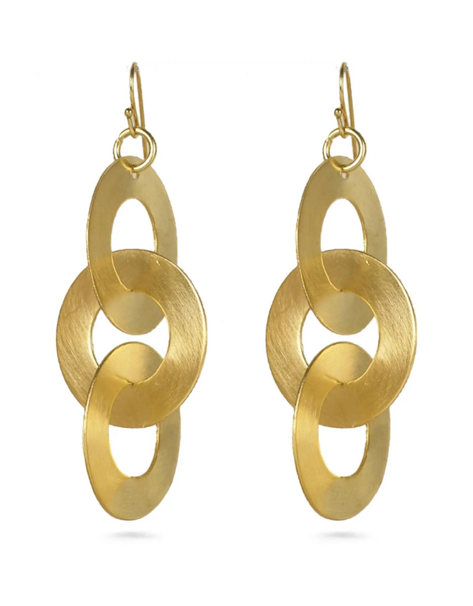 Faire/Museum Reproductions EARRINGS-RIHANA GOLD