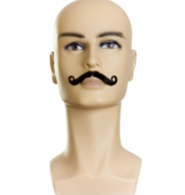 MOUSTACHE-AMBASSADOR V,MIX GREY 35%/MED BRN HUMAN