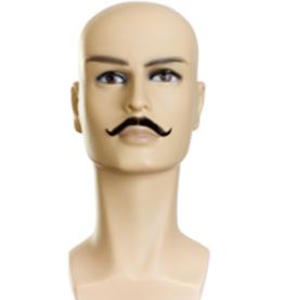 MOUSTACHE-AMBASSADOR IV,MIX GREY 35%/MED BRN HUMAN