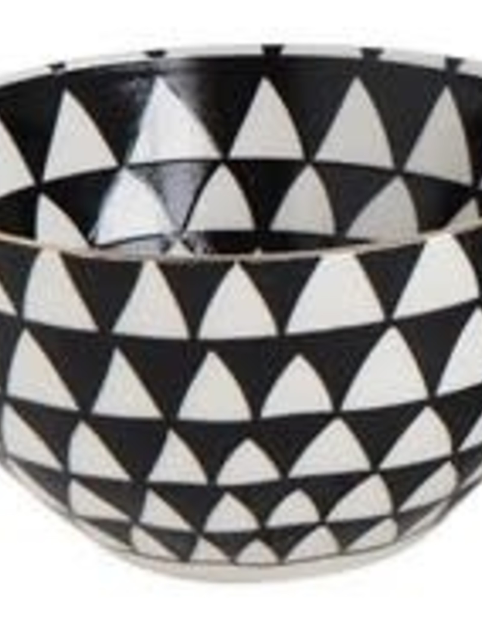 BOWL-BLACK PATTERN W/GOLD, ELECTROPLATED, 5'