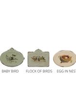 """BOX-METAL-BIRDS W/ NEST, 5-1/2""""x5-1/4""""x4-1/2"""""""