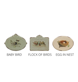 "BOX-METAL-BIRDS W/ NEST, 5-1/2""x5-1/4""x4-1/2"""