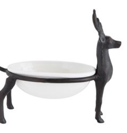 DISH-DEER HOLDING A CATCH ALL