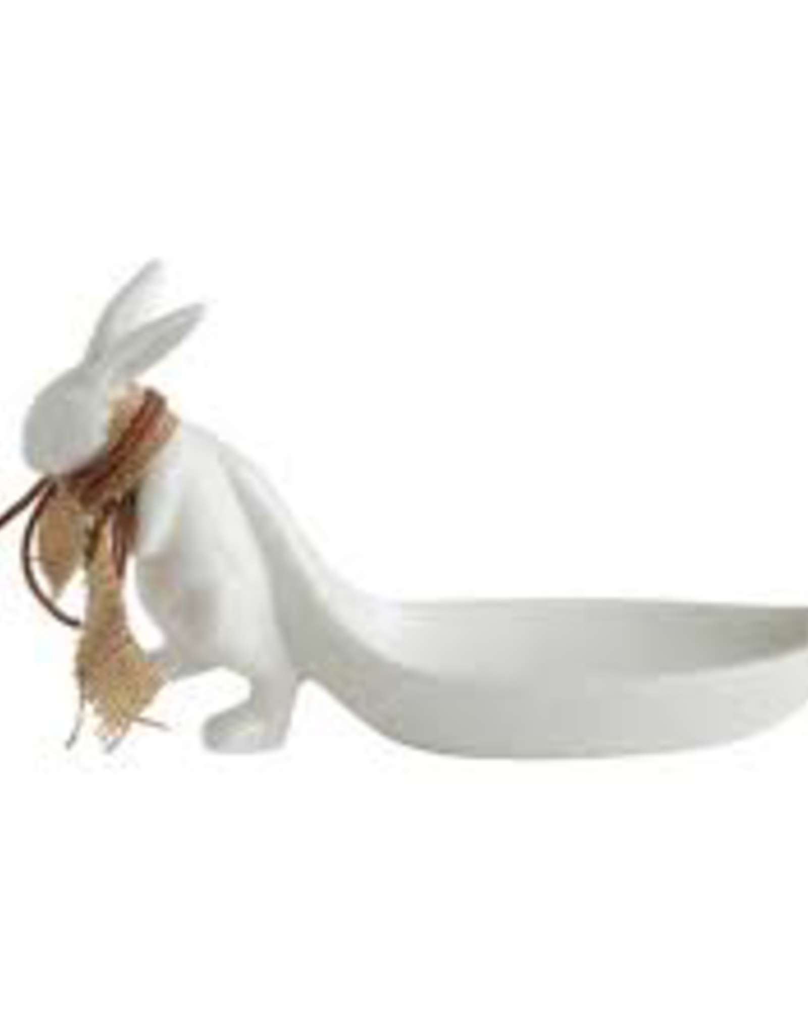 JEWELRY HOLDER-RABBIT PULLING LEAF BOWL, STONEWARE