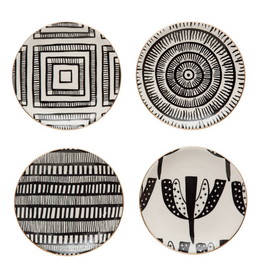 """PLATE-BLK/WHITE PATTERN, ELECTROPLATING, 5 1/2"""""""