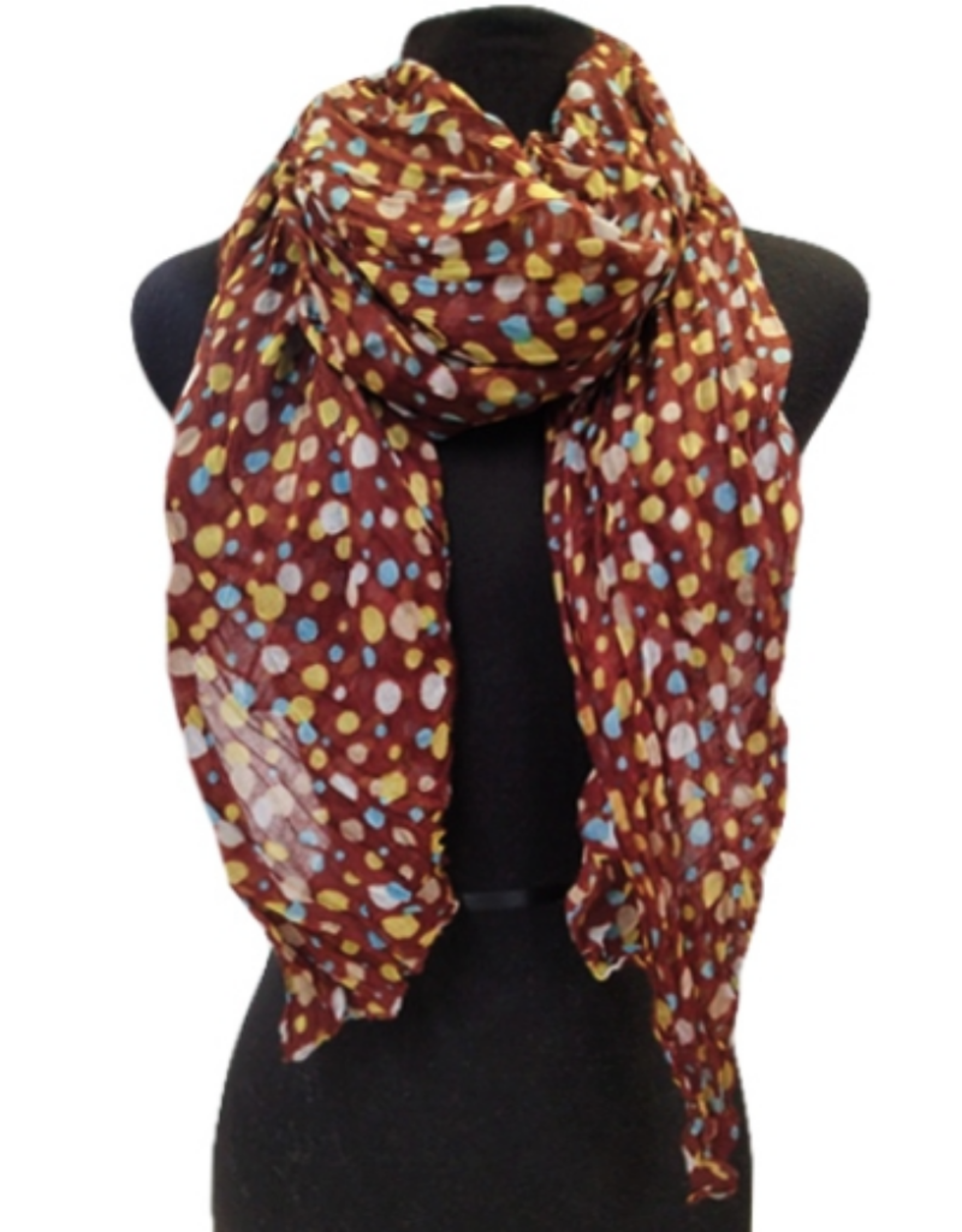 SCARF-COLORFUL DOTS