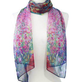 Faire/Galleria Enterprises SCARF-MONET'S GARDEN, SHEER