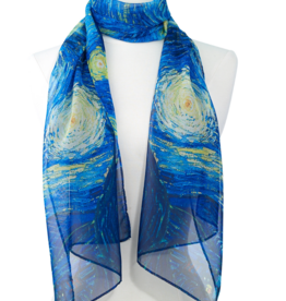 Faire/Galleria Enterprises SCARF-VAN GOGH STARRY NIGHT, SHEER