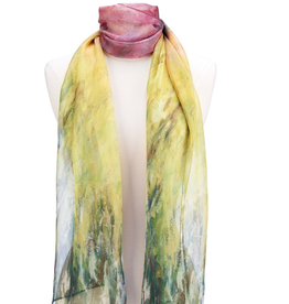 Faire/Galleria Enterprises SCARF-WATERLILIES AT SUNSET, SHEER