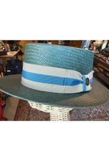 HAT-BOATER-PIERRE RENOIR, STRAW, NAVY, SMALL