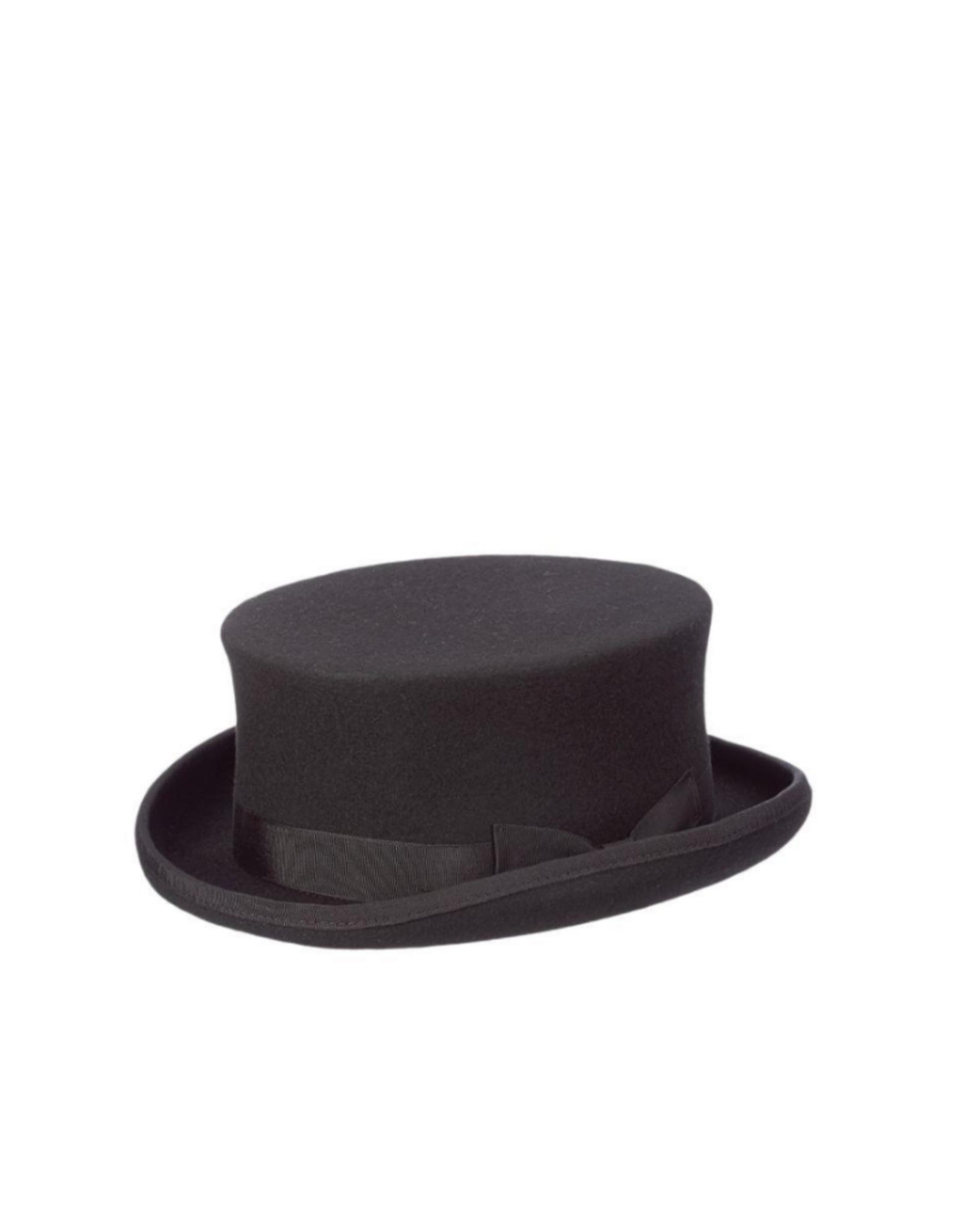 HAT-TOP HAT-HARWICK,  SHORT STEAM PUNK, BLACK, MEDIUM