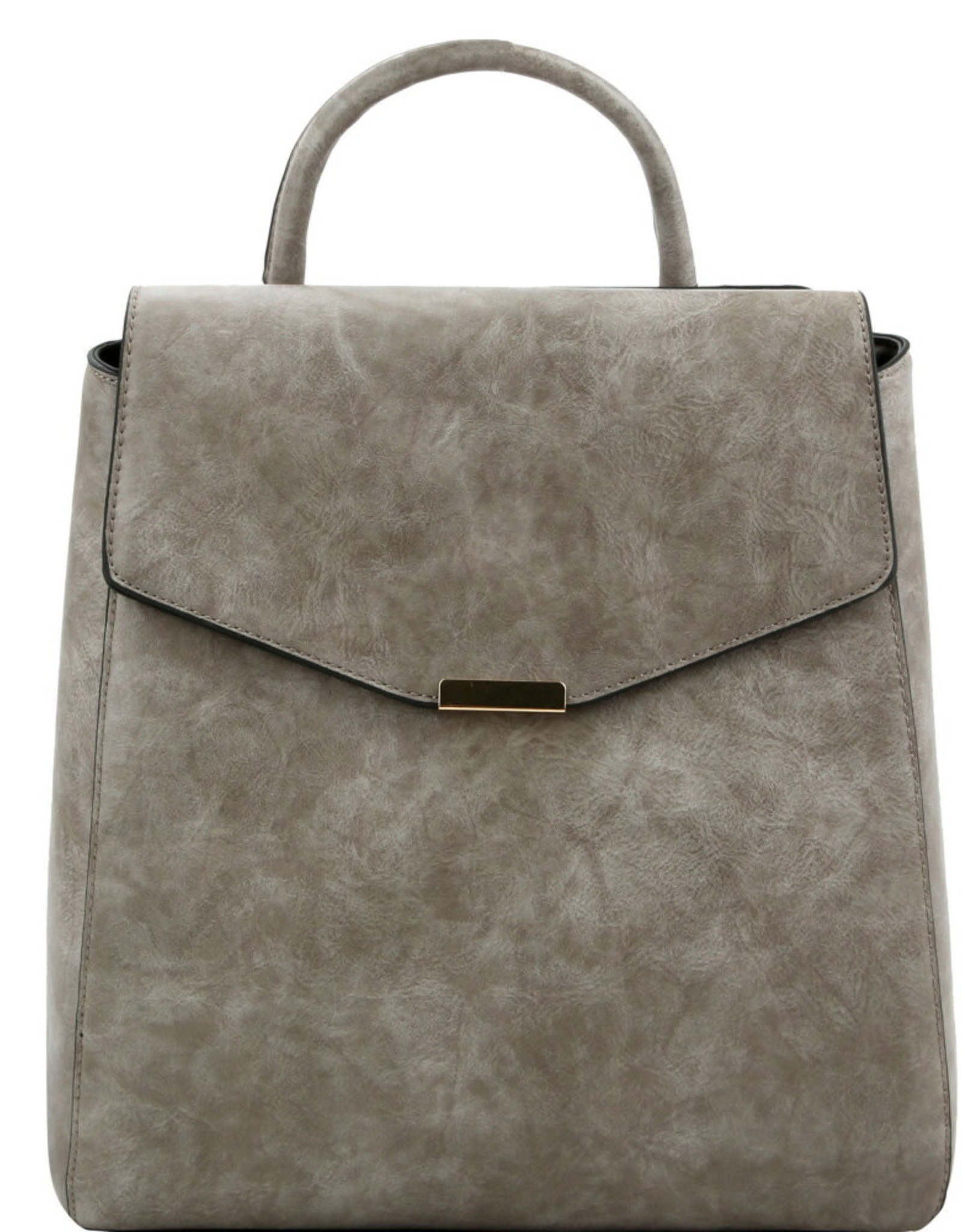 Lovelypurse4u BACKPACK-HARDWARE ACCENT STRUCTURED FLAP