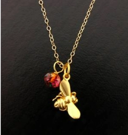 Faire/Sosie Designs NECKLACE-BUMBLE BEE GOLD