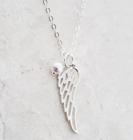 Faire/Sosie Designs NECKLACE-ANGEL WING SILVER