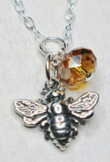 Faire/Sosie Designs NECKLACE-BUMBLE BEE SILVER