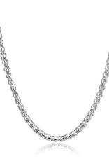NECKLACE-CRUCIBLE SPIGA STAINLESS STEEL