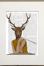Faire/FabFunky LTD ART PRINT-ANIMAL ON PAGE 11 X 14  (SET I)