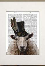 Faire/FabFunky LTD ART PRINT-ANIMAL ON PAGE, 11 X 14  (SET II)