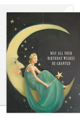 """Faire/Janet Hill Studio CARD-BIRTHDAY """"PHOEBE"""" SITTING ON A MOON"""