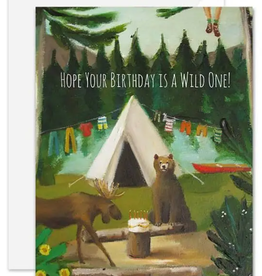 """Faire/Janet Hill Studio CARD-BIRTHDAY """"WILD"""" IN THE WOODS"""