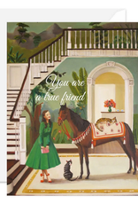 """Faire/Janet Hill Studio CARD-BLANK """"YOU ARE A TRUE FRIEND"""""""