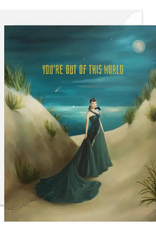 """Faire/Janet Hill Studio CARD-BLANK YOU ARE OUT OF THIS WORLD"""""""