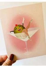 "Faire/Kitschy Delish CARD-BLANK ""DIRTY MARTINI"""