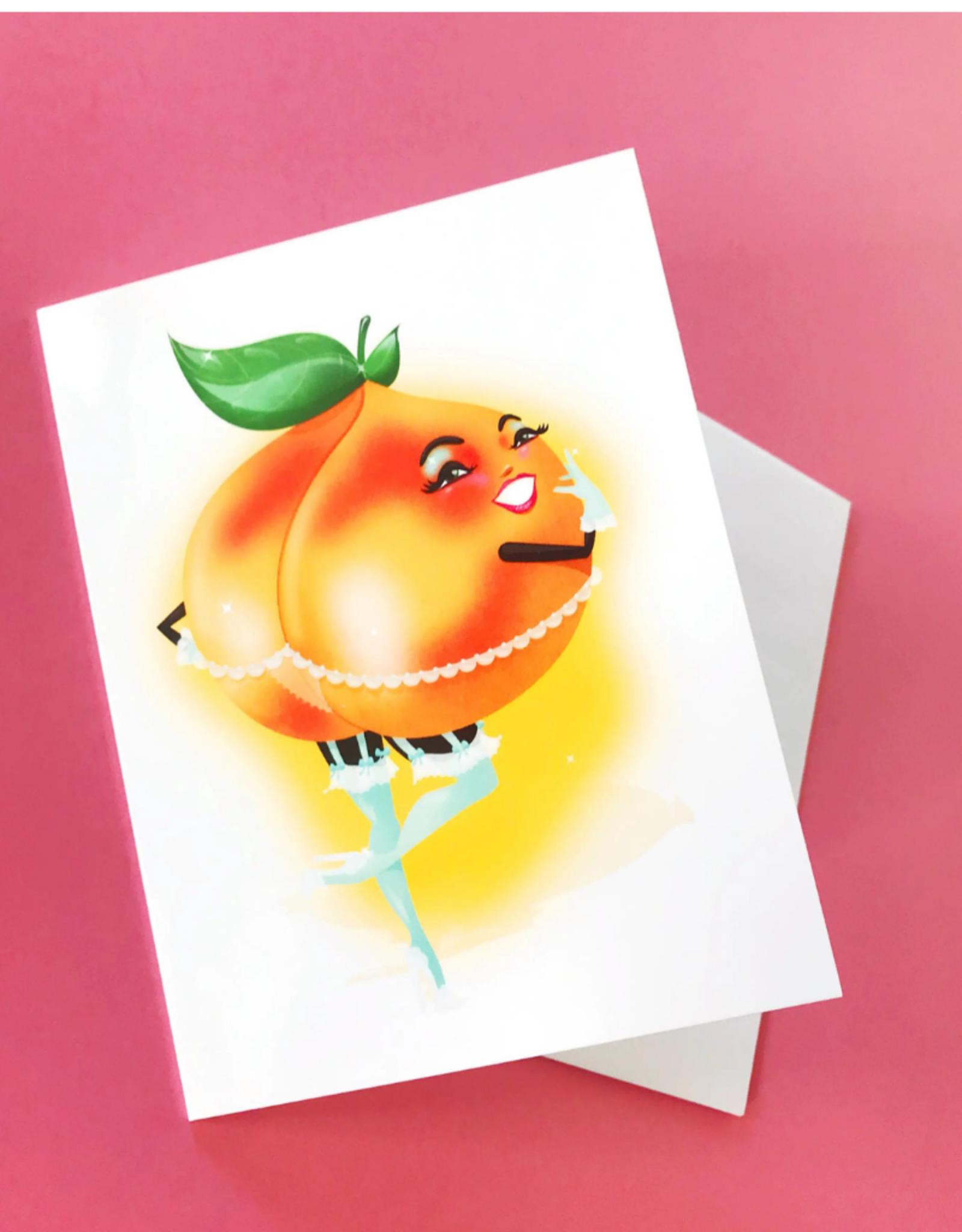 """Faire/Kitschy Delish CARD-BLANK """"PEACHY"""""""