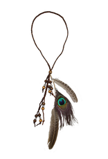 HAT-TRIM-FEATHERS/BEADS