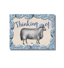 "CARD-JUST BECAUSE ""THINKING OF EWE"""
