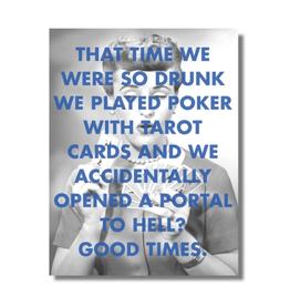 "CARD-HUMOR ""DRUNK FRIENDSHIP"""