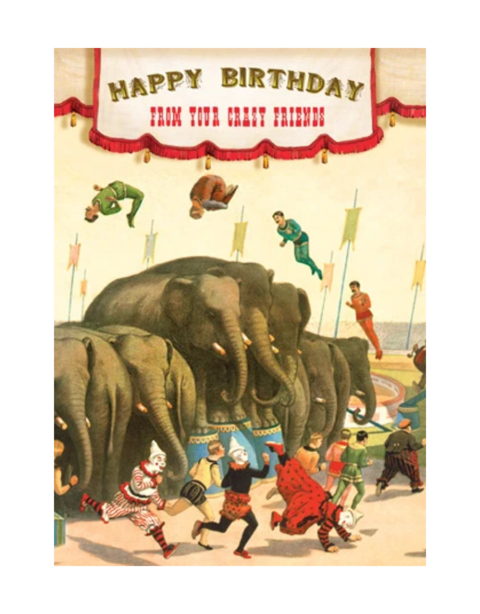 """CARD-BIRTHDAY """"FROM YOUR CRAZY FRIENDS"""""""