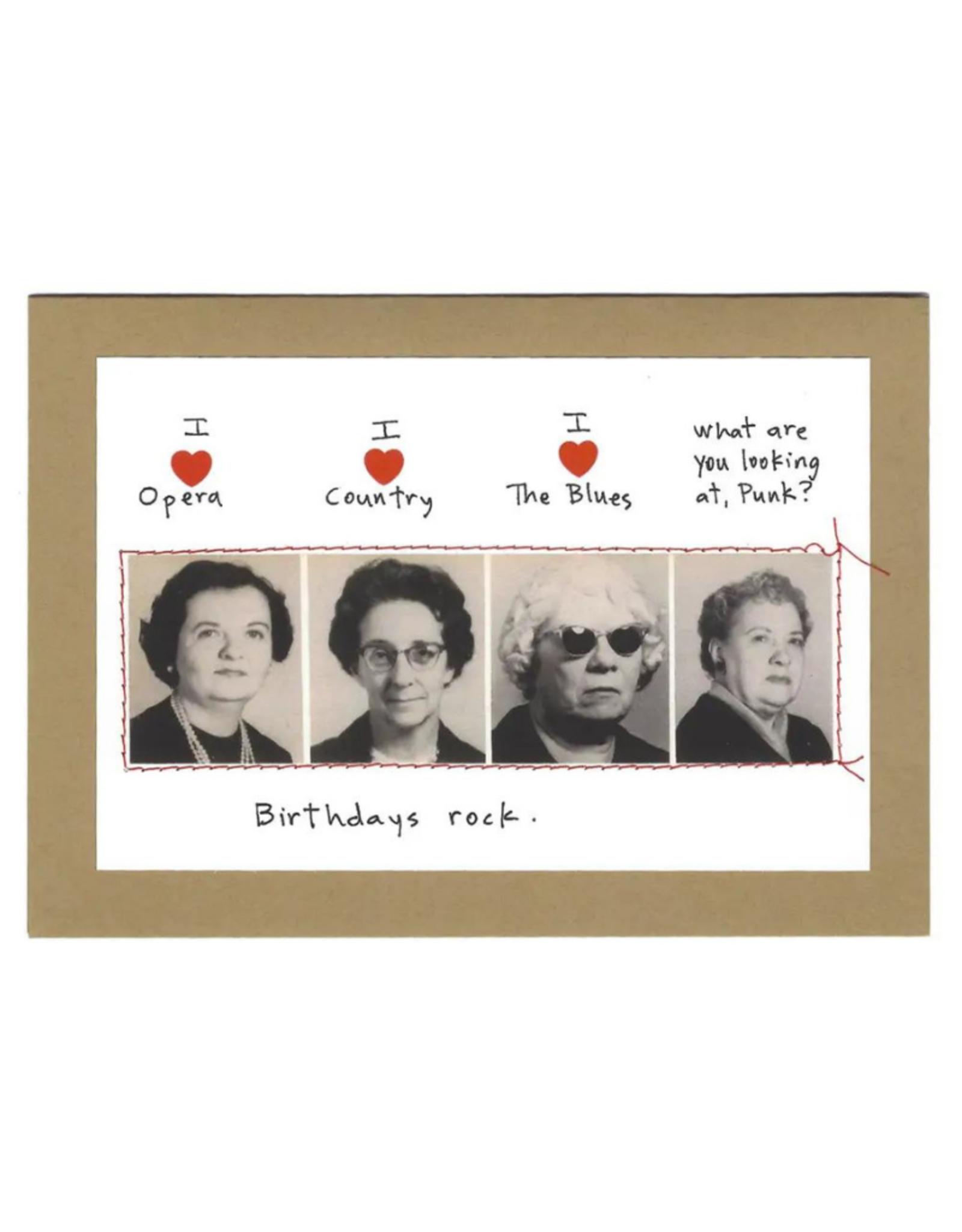 """Faire/Visual Treats CARD-BIRTHDAY """"BIRTHDAY'S ROCK"""""""