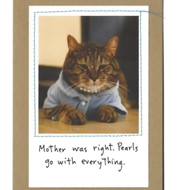 """Faire/Visual Treats CARD-HUMOR """"MOTHER WAS RIGHT"""""""