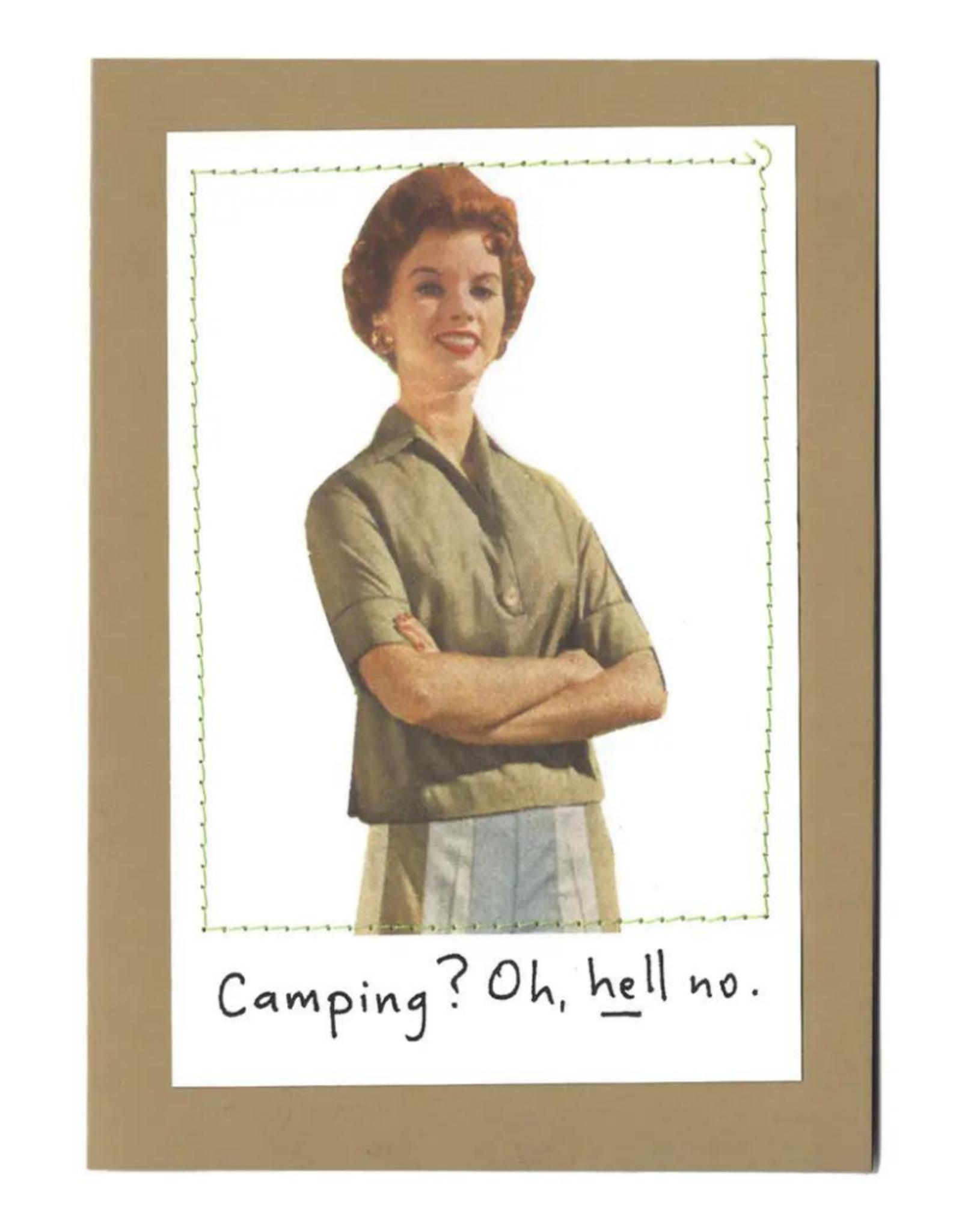 "Faire/Visual Treats CARD-HUMOR ""CAMPING?"""