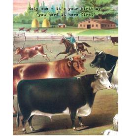 "CARD-BIRTHDAY ""HOLY COW"""