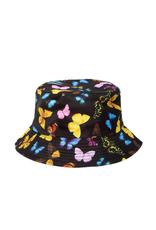 HAT-BUCKET BUTTERFLIES ON BLK