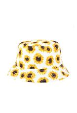 HAT-BUCKET SUNFLOWERS