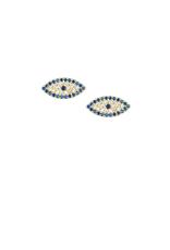 EARRINGS-GOLD DIPPED STUDS / EVIL EYES